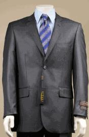 Big and Tall Size 56 to 72 2-Button Suit Textured Patterned Sport