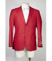 2 Button Dark Red Mens Cheap Priced Designer Fashion Dress Casual Blazer
