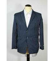 Single Breasted Pinstripe Mens