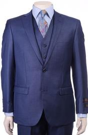 Mens Royal Blue Modern Sheen Sharkskin