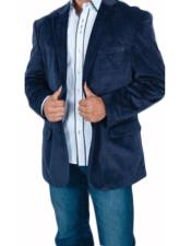 Mens Stylish 2 Button Sport Jacket Navy Blue Discounted Affordable Velvet ~