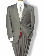 Mantoni Mordern Fit 2 Button Single Breasted Jacket Suit Taupe