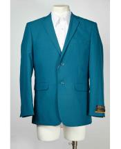 Teal Two Button Cheap Priced Designer Casual Blazer