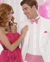 Essentials 2-Button Notch Wedding / Prom Formalwear White Tuxedo of Big