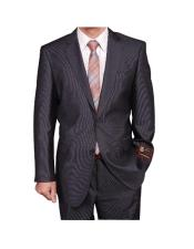 Mens Gray Micro-Stripe ~ Pinstripe 2-button discounted Cheap Priced Business Suits Clearance