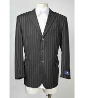 Pinstripe Mens Notch Lapel