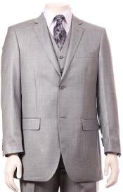 Mens Stone Double vented Super fine poly blend Suit