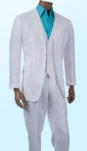 Discounted Summer Light Weight Sale 3Piece Linen Suit White