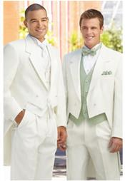 ~ cream ~ off white tailcoat tuxedo for men + Any Color Vest Tuxedo Jacket with the
