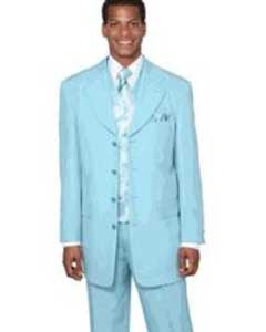 Sky Baby Blue ~ Light Blue ~ Aqua Turquoise Color Mens Dress