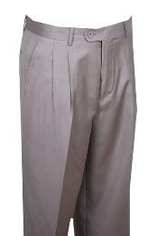 rise big leg slacks Dress Pants Beige Wide Leg Pleated baggy