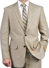 Mens Beige Linen Suit Perfect for Prom attire outfits