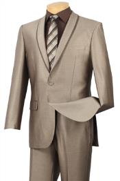 Mens Slim Fit Suit - Fitted Suit - Skinny Suit Mens Beige