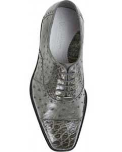Genuine Skin Italian Cap toe Lace UP Oxford Style II Grey