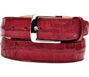 Authentic Genuine Skin Italian Chapo Genuine Crocodile Red Belt