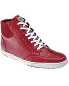 """Franco"" Red Genuine Crocodile"