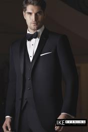 Evening Notch Black 2 Button Notch Tuxedo Ike Evening by Ike Behar