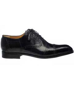 Mens Black Cap Toe