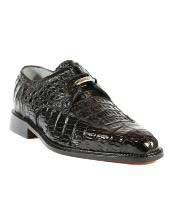 Black Oxford Belvedere Shoes