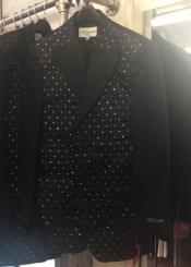 Blazer with Mettalic dots