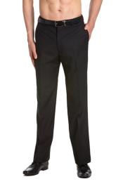 Tuxedo Pants Flat Front with Satin Band Black