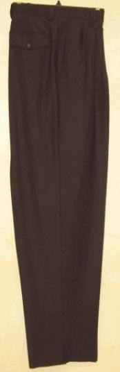 rise big leg slacks Black wide leg dress pants Pleated baggy