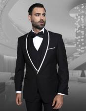 Black Fashion Tux by Statement Suits Clothing Confidence