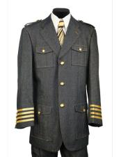 Black military style tri-stripe