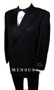 100% Wool Fabric Mens 2 Button Double Breasted Tuxedo 6 on 2