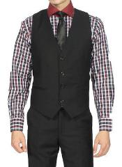 Black Vest & Tie & Matching Dress Pants Set