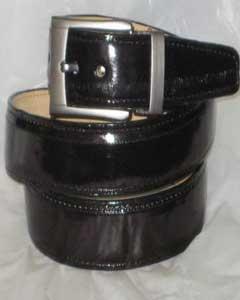 Authentic Black Eel Belt