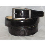 Authentic Black Eel Belt