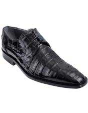 Genuine Caiman Belly Oxfords Style Black Los Altos Dress Shoes