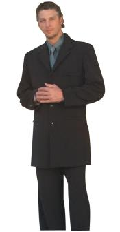 Mens Long Black Fashion Dress Zoot suit