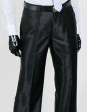 Sharkskin Flashy Dress Slack ~ Pants Available In Black Ivory White Navy Blue Silver Charcoal Grey