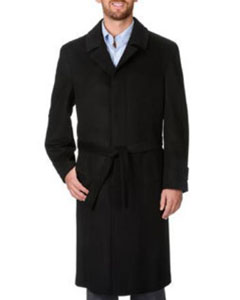 Coat Ronald Black Wool
