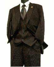 Zoot Cheap Priced Business Suits Clearance Sale Black and Red Bold Chalk Gangster Stripe ~ Pinstripe 3