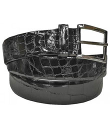 Authentic Skin Black All-Over Genuine World Best Alligator ~ Gator Skin Belt
