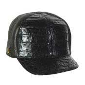 Baseball Black Genuine Hornback Cap