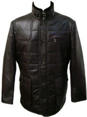 Black Quilted Lamb Leather Jacket
