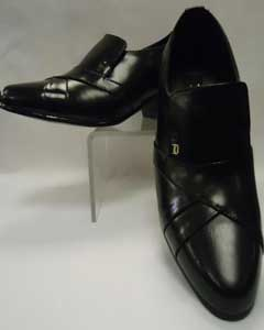 Black Leather Cuban Heel
