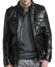 Front Zipper Closure Lambskin