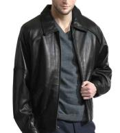 Mens Retro Throwback Semi-Naked Lambskin Bomber Zip Closure Black Jacket