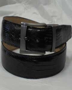 Authentic Black Lizard Belt