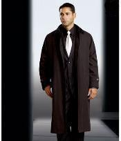 Dress Coat Polyester/Nylon Long Style Rain Coat-Trench Coat(Snap Off Liner)