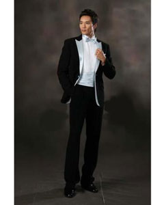 Mens Black Fashion Slim Fit Dress Suits Tuxedos For Wedding Prom