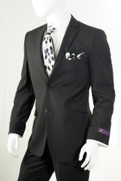 Black Slim Fit Suit Vent Online Discount Fashion Sale Cheap Priced