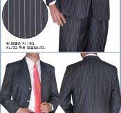 BWP265 BLack & White Pinstripe Available in 2 or Three ~ 3 Buttons Style Regular Classic Cut