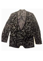 Nardoni Brand Mens Black Trimmed Shawl Lapel Cheap Priced Designer Fashion