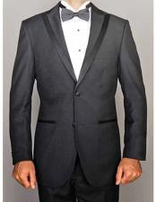 High Quality Peak Lapel 2 Button Slim Fit Tuxedo With Satin Trim
